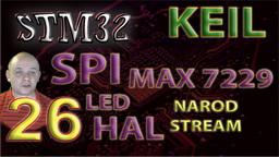 STM HAL. SPI. Драйвер индикатора MAX7219