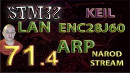 STM LAN. ENC28J60. ARP