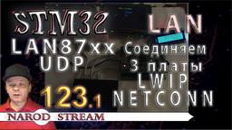 STM LAN87XX. LWIP. NETCONN. UDP. Соединяем три контролера