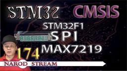 STM CMSIS. STM32F1. SPI. Драйвер индикатора MAX7219