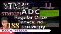 STM LL. STM32F1. ADC. Regular Once. Запуск по таймеру