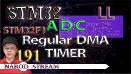 STM LL. STM32F1. ADC. Regular Once. DMA. Запуск по таймеру