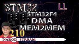 STM LL. STM32F4. DMA. MEM2MEM